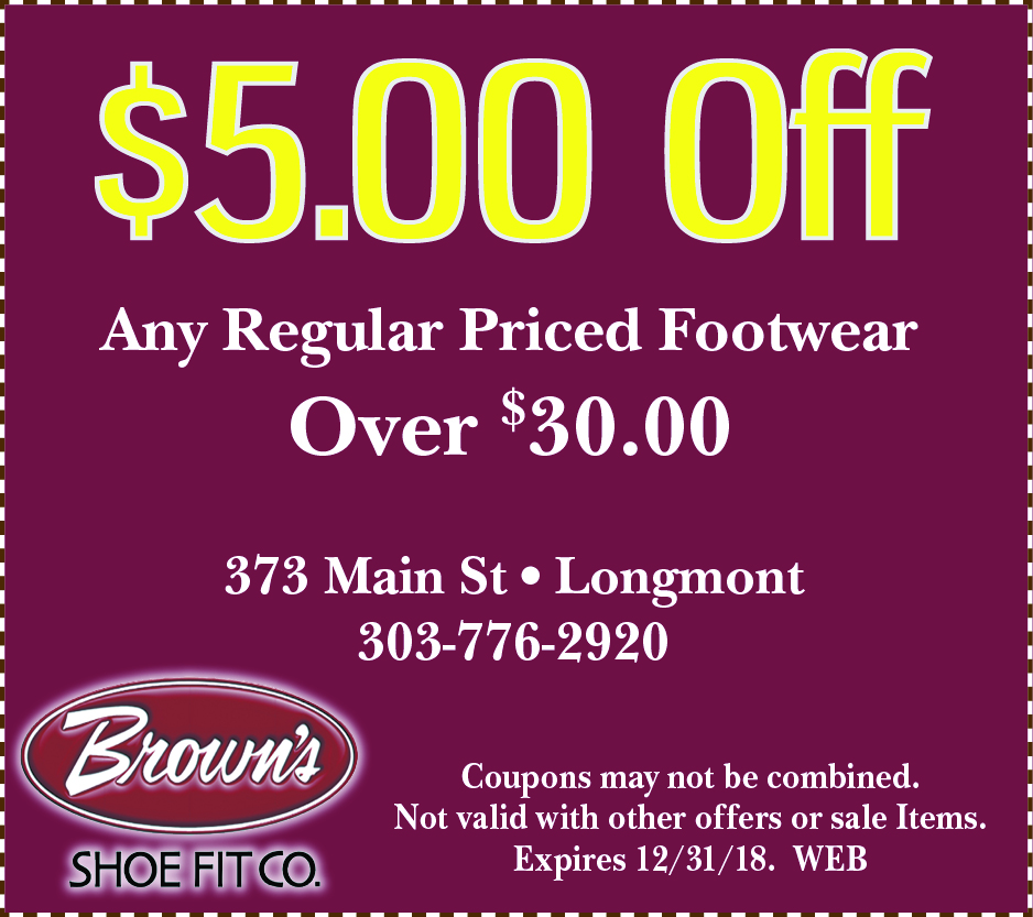 graphic regarding Red Wing Shoes Coupon Printable called Discount coupons Browns Shoe In shape CO Longmont CO 80501